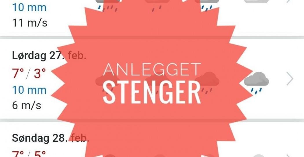 Anlegget stenger